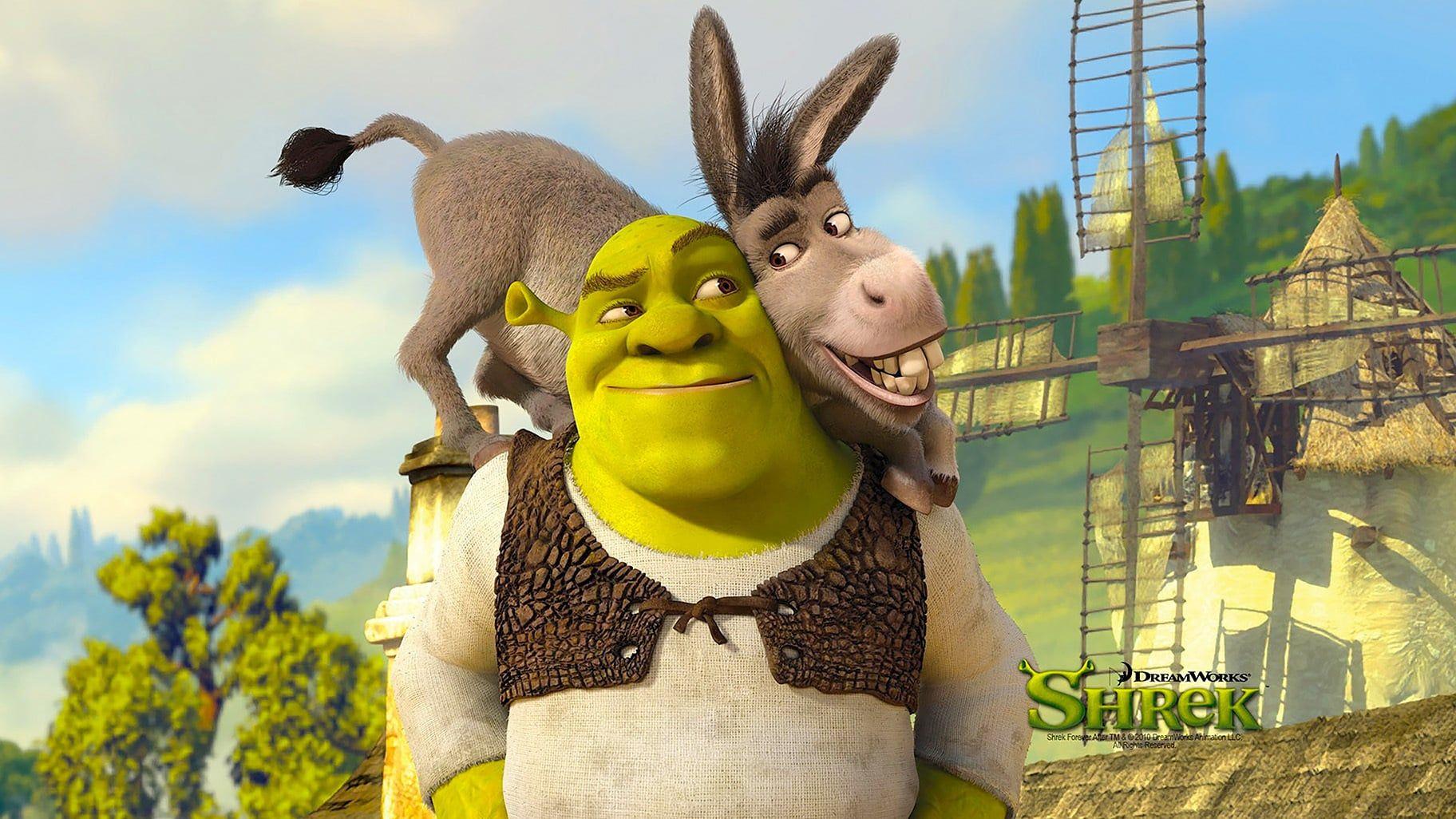 Shrek Un Ogre Verdatre Cynique Et Malicieux A Elu Domicile Dans Un Marecage Qu Il Croit Etre Un Havre De Pa Shrek Free Movies Online Full Movies Online Free