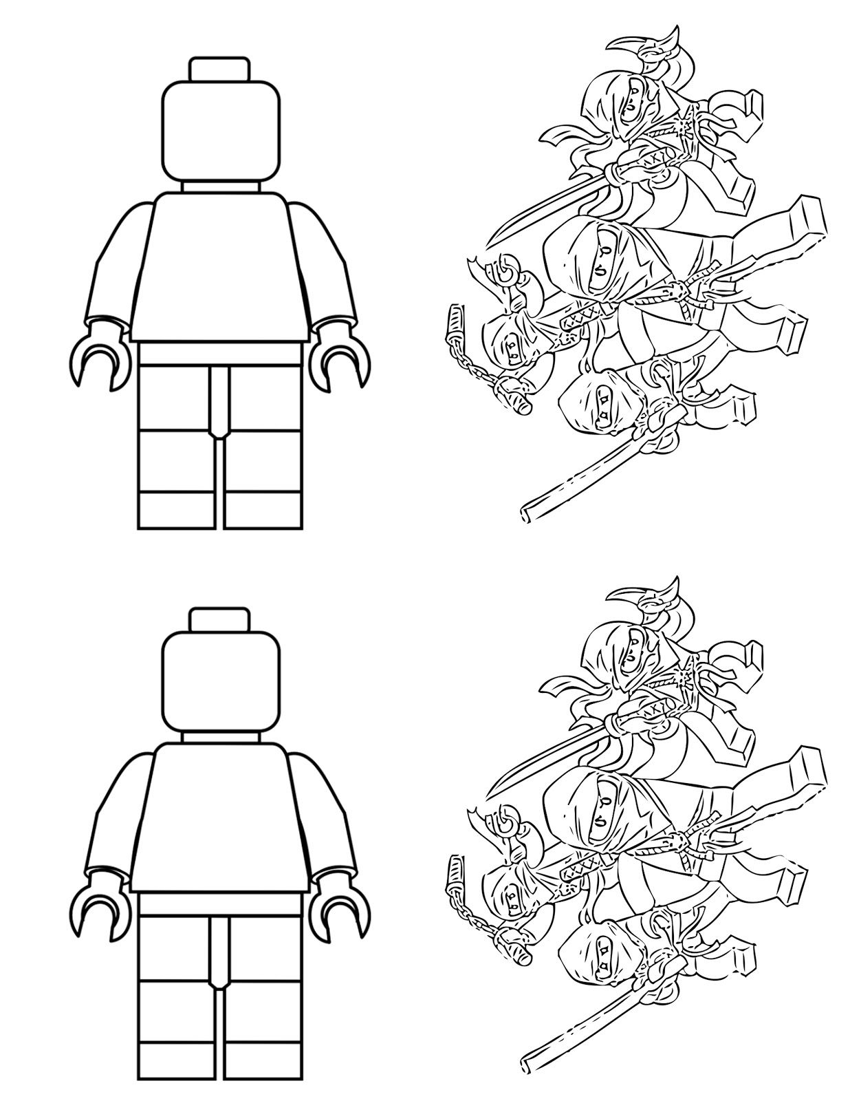 Lego Coloring Book Party Favors | Lego themed party ...