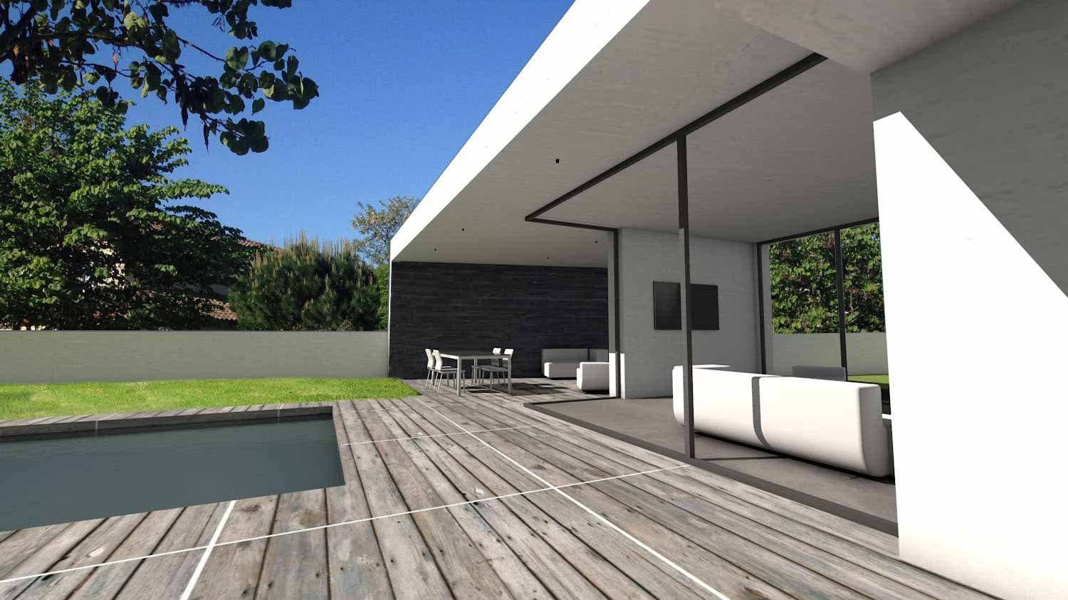 Atelier d 39 architecture sc nario maison contemporaine d for Architecture maison contemporaine