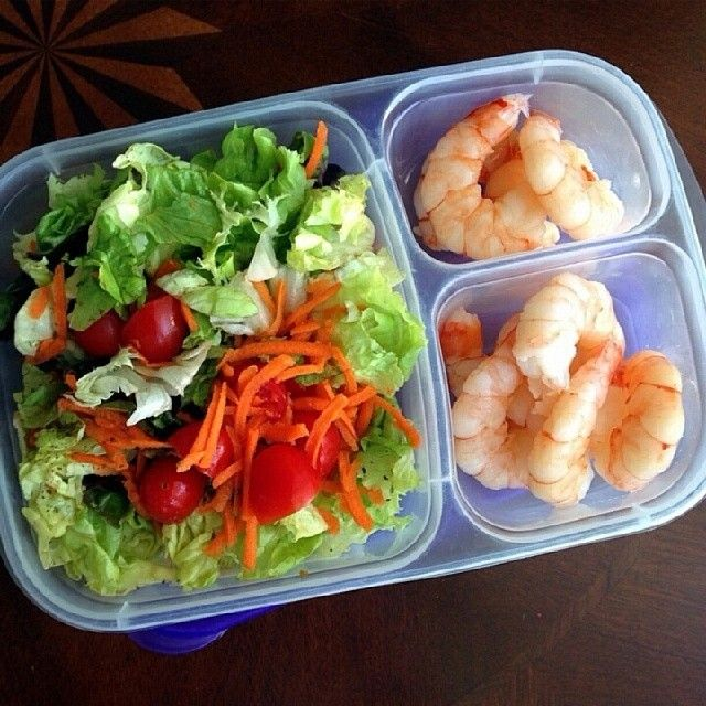 """Late breakfast = late lunch. So glad I had leftovers from yesterday!"" 