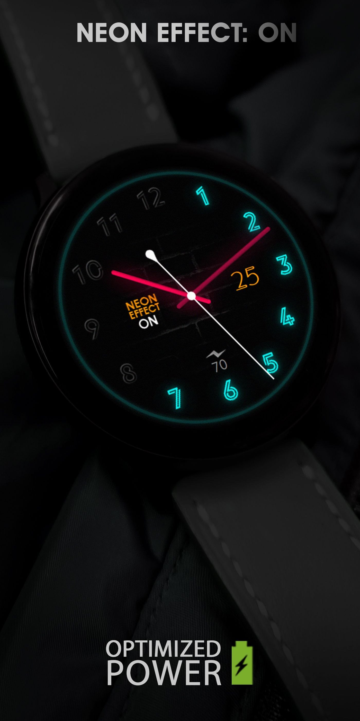 Neon Watch Face For Galaxy Watch Watch3 Galaxy Active Gear S3 Watch Faces Samsung Gear S3 Frontier Face