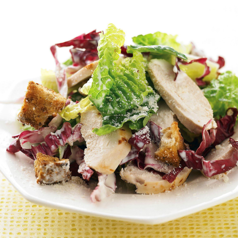 Parmesan Cips ve Yeşil Salata