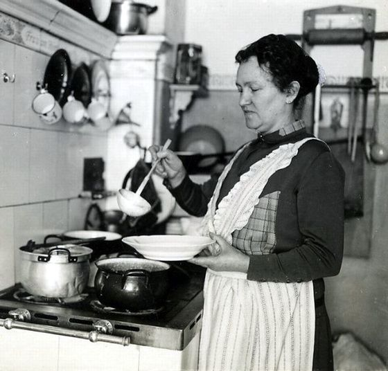 Woman cooking soup, Germany, 1930s