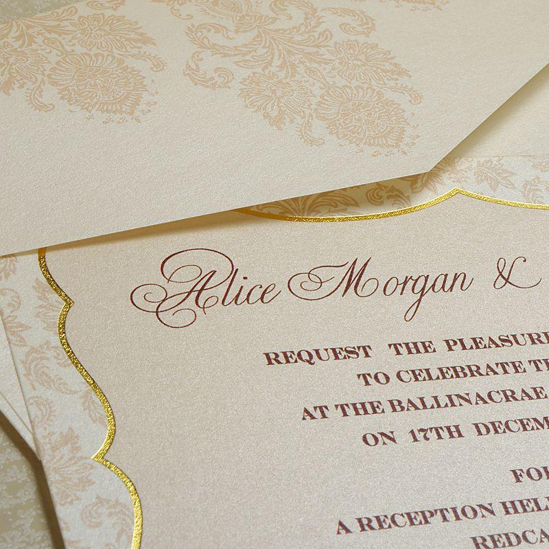 Vintage Frame Wedding Invitations UK - Polina Perri | Gatsby/Art ...