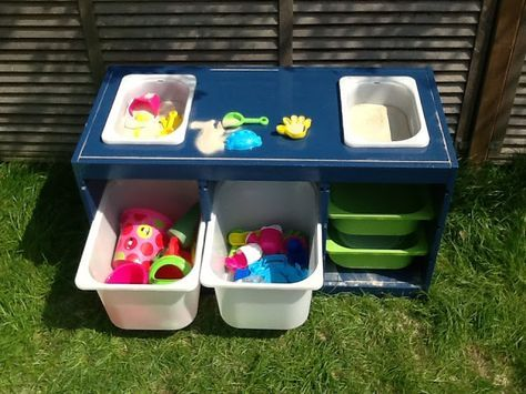 Trofast Sand And Water Table Play Spaces Sand Water Table Kids