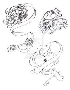 Lock Key Tattoo Designs Google Search Szarfy Pinterest