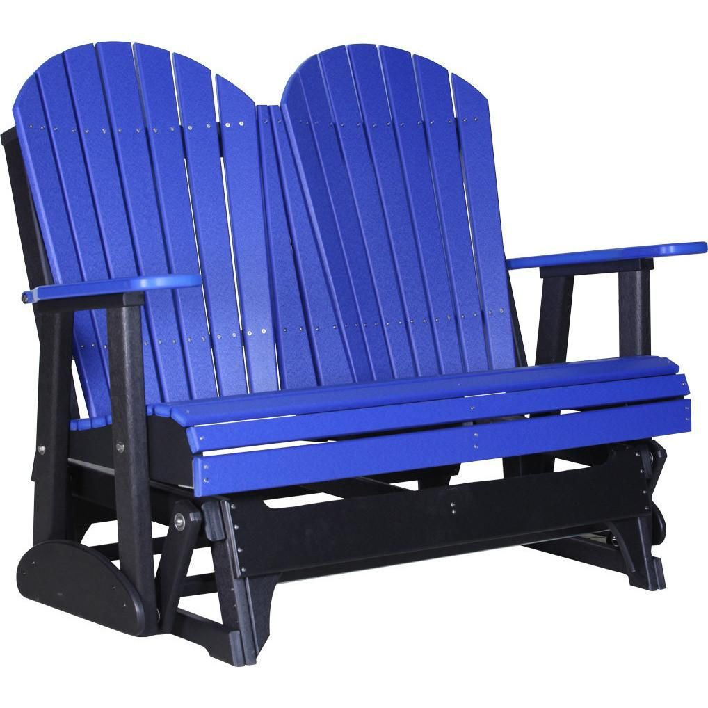 Luxcraft Recycled Plastic 4 Adirondack Glider Chair