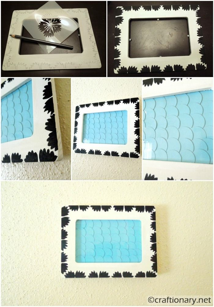 circles and paint wooden frame tutorial - Wooden Picture Frames To Paint