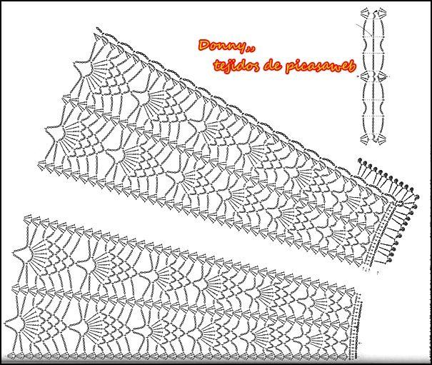 TEJIDOS A CROCHET - GANCHILLO - PATRONES: CHALINAS   bufandas ...