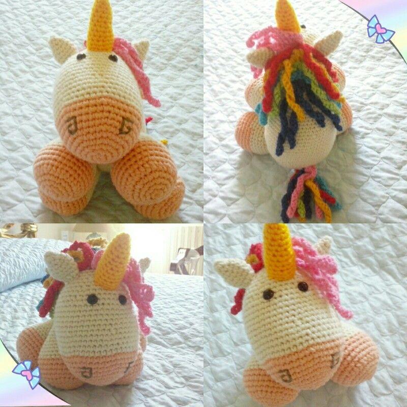 Chubby unicorn amigurumi