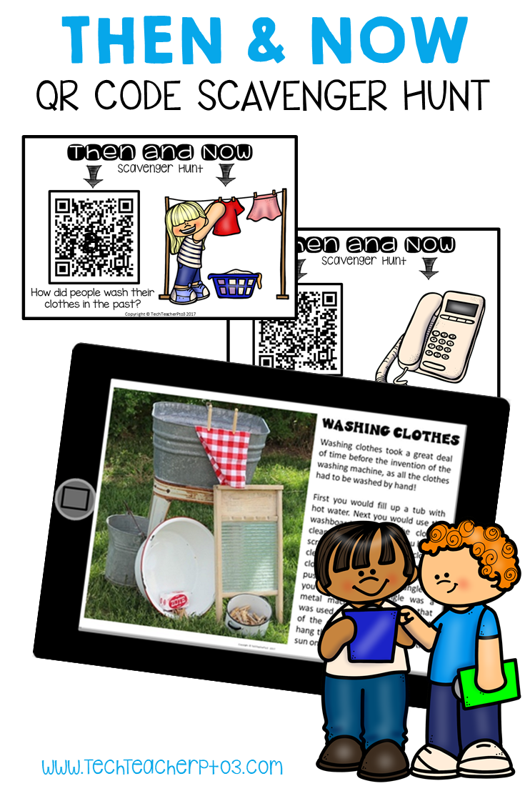 Long Ago And Today Then Now Social Studies Qr Code Scavenger Hunt In 2020 Elementary Special Education Activities Social Studies Special Education Activities
