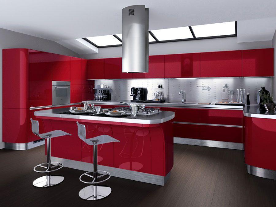 30 Modelli di Cucine Rosse dal Design Moderno | кухня скаволини ...
