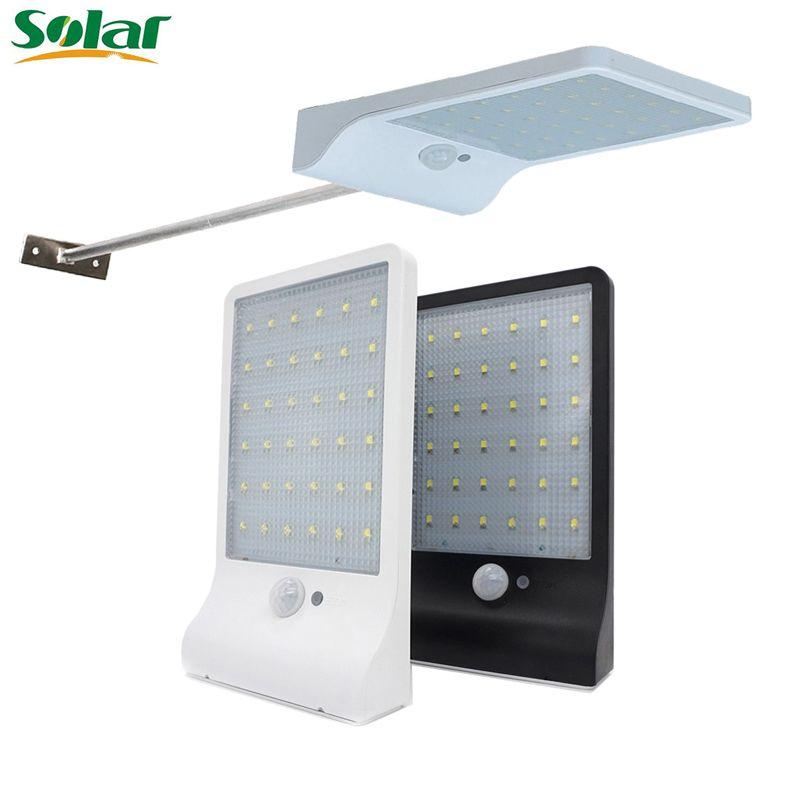 Outdoor Street Waterproof Wall Lights 450LM 36 LED Solar Power Street Light  PIR Motion Sensor Light