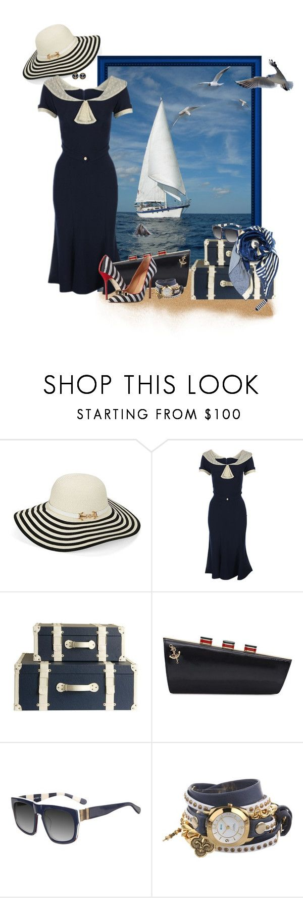 """""""Nautical Dress"""" by louvillia ❤ liked on Polyvore featuring Genie by Eugenia Kim, Stop Staring!, Kate Spade, sass & bide, La Mer and Dsquared2"""