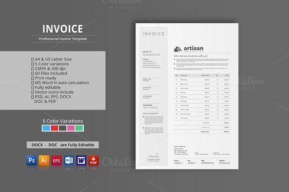 Invoice by artisanHR on @creativemarket | Stunning Invoice