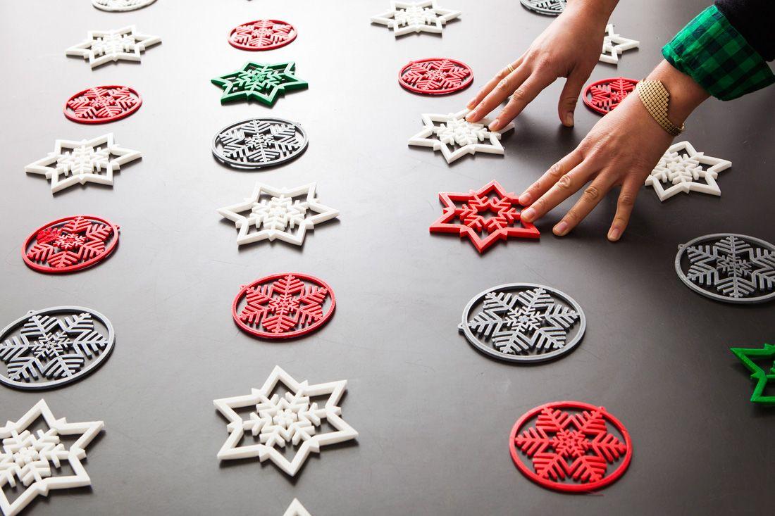3d printed snowflakes