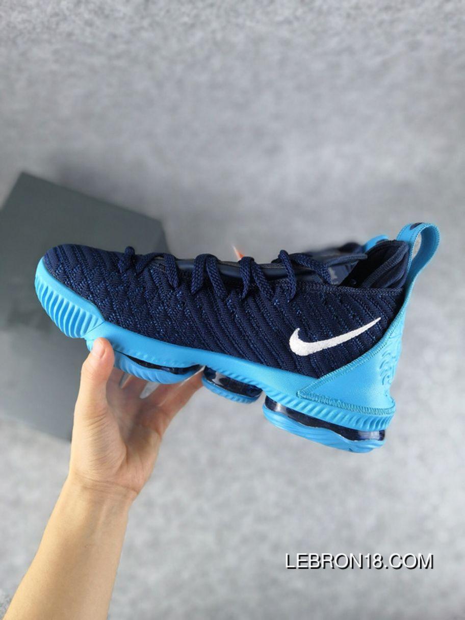 66f40e5dcdd Nike Lebron James LBJ16 16 40-46 Men Blue Black New Style in 2019 ...