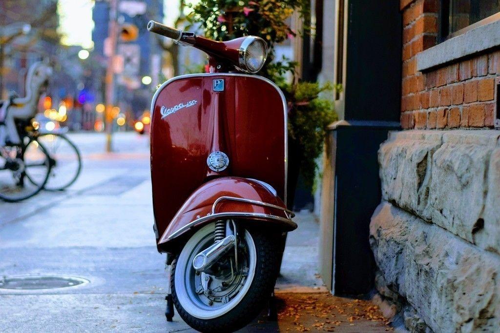 Classic Bike Vespa Bike Wallpaper Mobil