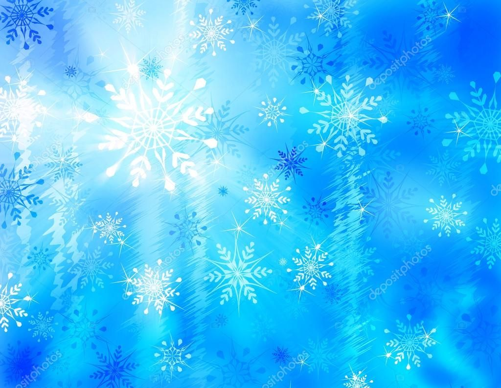 Llustration of a winter background with snowflakes and ice