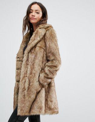 Homme Épaissir Couleurs Mélangées en fausse fourrure veste Parka Outwear Mode Veste Manteau E735