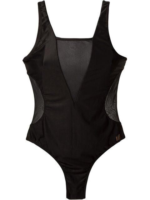 sheer panels swimsuit - Black Brigitte Free Shipping Extremely Cheap Sale Fashion Style NNesuGdhWp