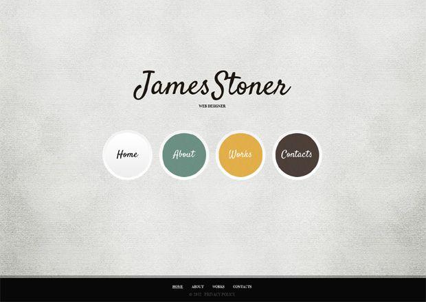All minimal web design stuff the wave of simplicity portfolio james stoner designer portfolio full js animated template toneelgroepblik Choice Image