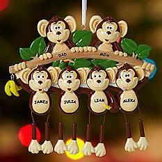 Monkey Family Ornament