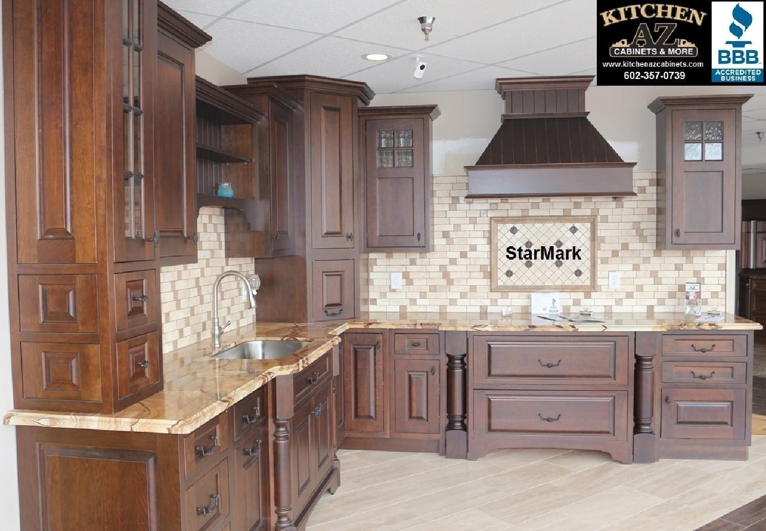 Inset door style kitchen cabinets in phoenix remodeling showroom ...