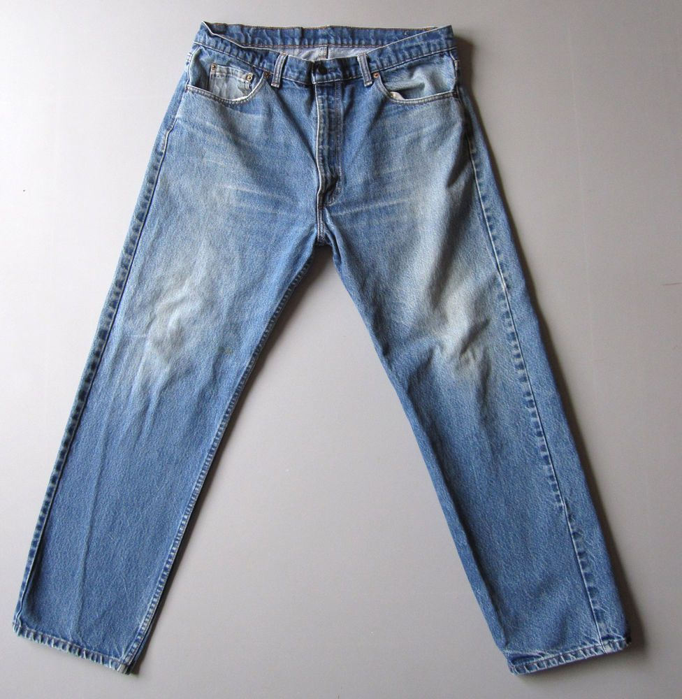Vintage 80s Levi's 505 Jeans Blue Denim 38 x 30 Mens 36