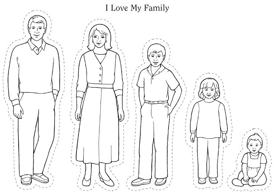 I Love My Whole Family Preschool Family Theme Family Coloring Pages Preschool Family