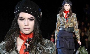 Kendall Jenner is military chic in Marc by Marc Jacobs runway #DailyMail