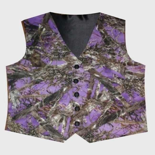 This Men S Purple Camo Vest Is Perfect For Any Camo Wedding Only