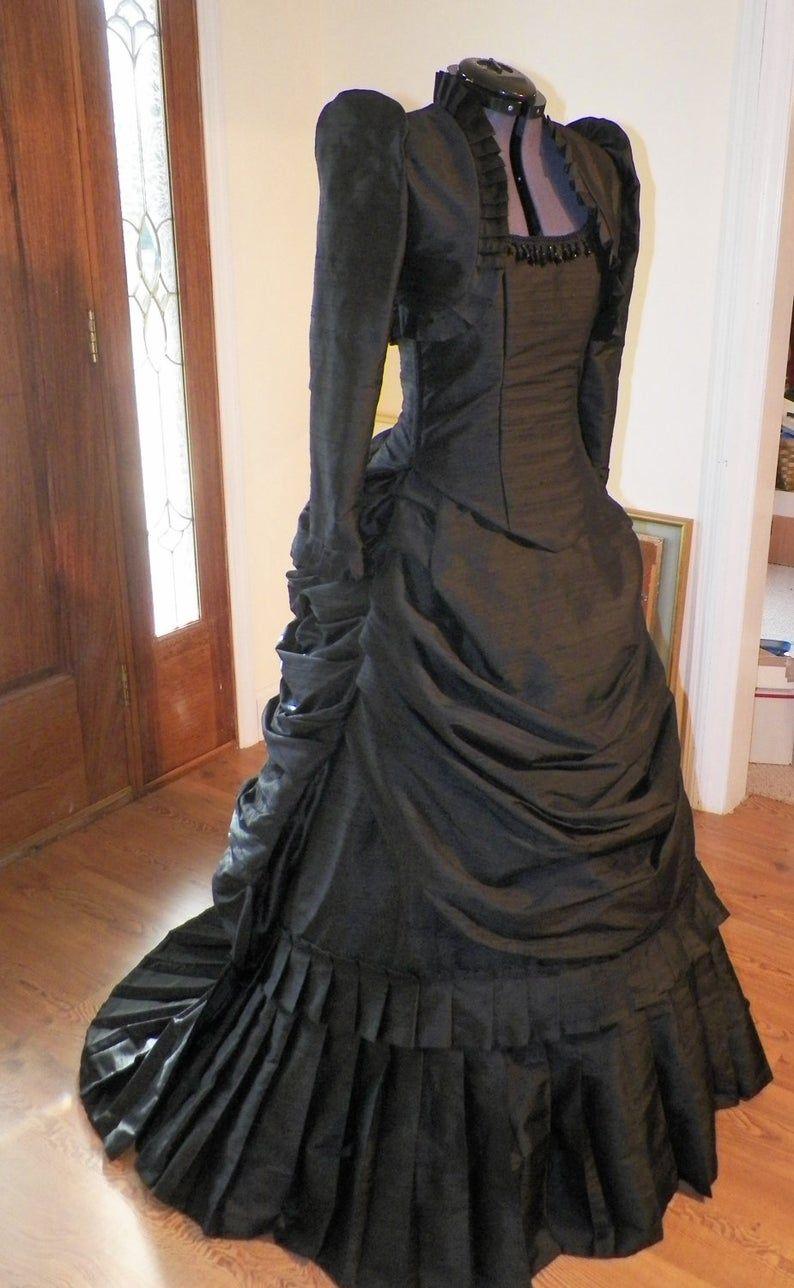 Victorian Bustle Dress, Steampunk Dress, Gothic Dress