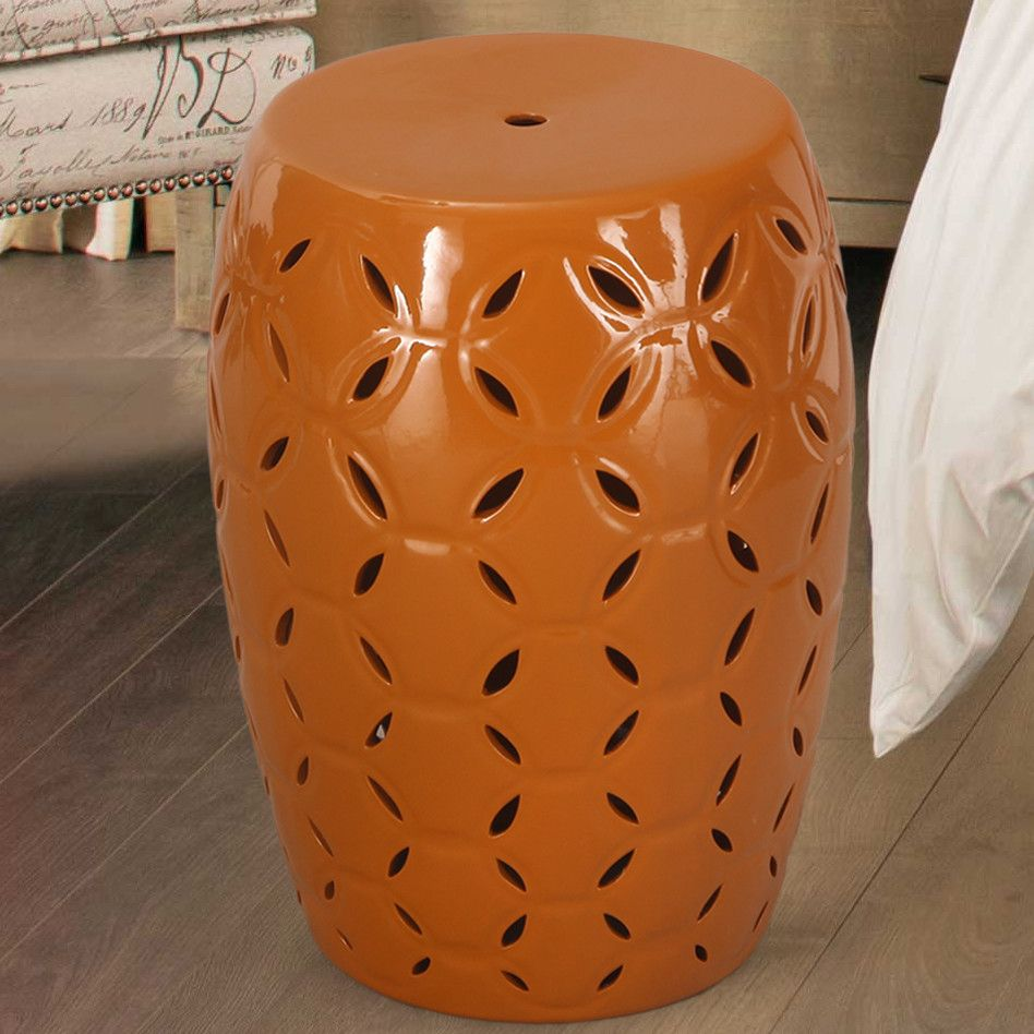 Lattice Ceramic Garden Stool | Ceramic garden stools and Products