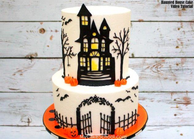 Haunted House Cake! \u2013 A Cake Decorating Video Tutorial Haunted - decorating halloween cakes