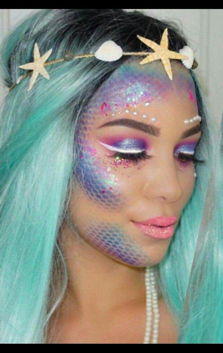 Perfect mermaid makeup