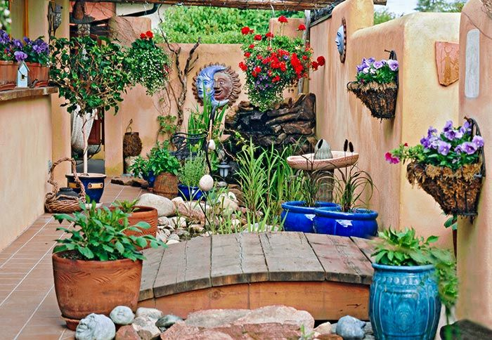 often the problem with a small outdoor area is a lack of gardening space - Garden Ideas Large Space