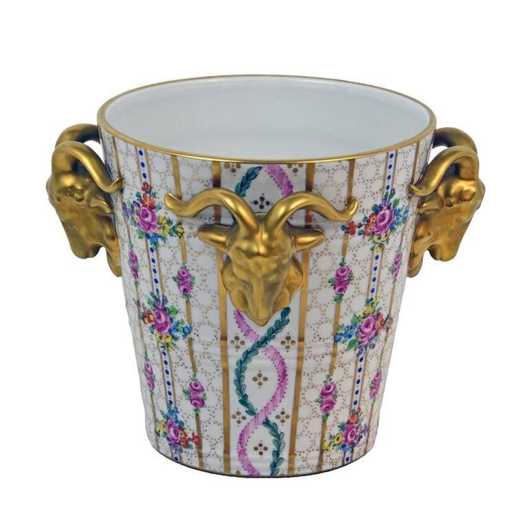 Vintage Dresden Jardinière | From a unique collection of antique and modern vases and vessels at https://www.1stdibs.com/furniture/decorative-objects/vases-vessels/