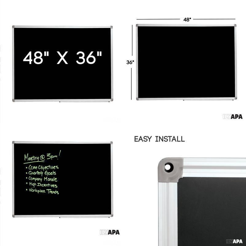 Large Magnetic Chalkboard With Eraser Magnets And Tray 48 X 36 Inch ...