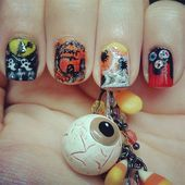 Photo of Halloween Nails by TenTinyCanvases  Nail Art Gallery nailartgallery.na by Na