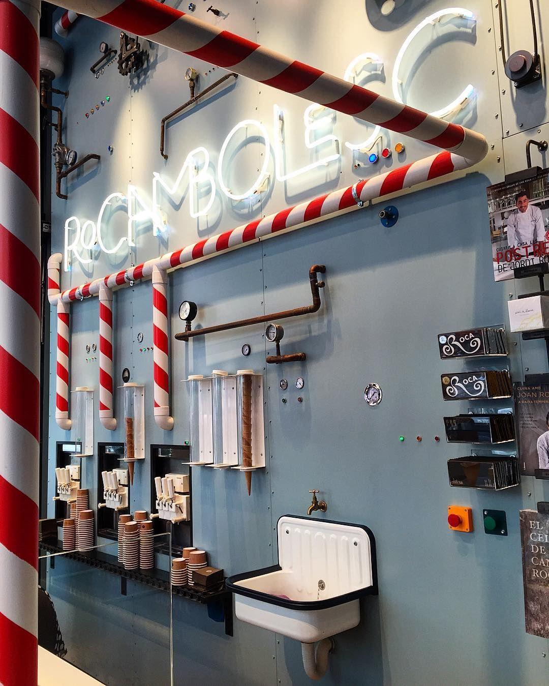 Rocambolesc ice cream shop in Barcelona | Diseños para negocios ...