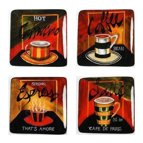 cafe de paris dessert plate 8 25 set 4 assorted by jennifer garant