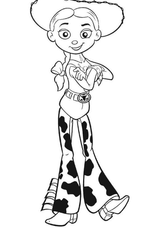 Cowgirl Jessie From Toy Story Coloring Sheets Enjoy Coloring