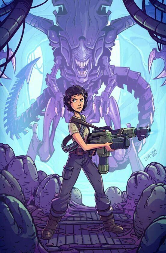 Ripley Aliens Movie Animated in 2019   Aliens movie, Alien ...
