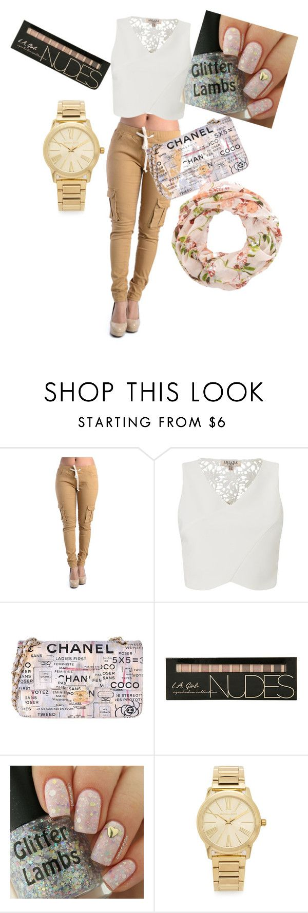 """""""Untitled #42"""" by zahir-arnela ❤ liked on Polyvore featuring Lipsy, Chanel and Michael Kors"""