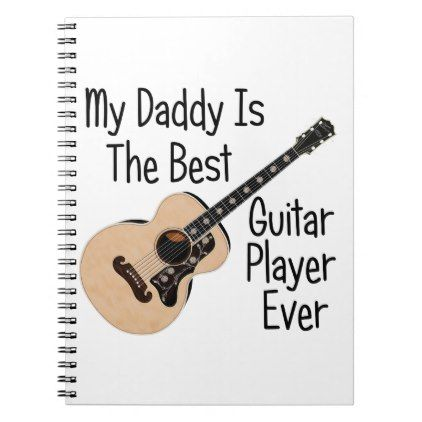Daddy Guitar Notebook - baby gifts child new born gift idea
