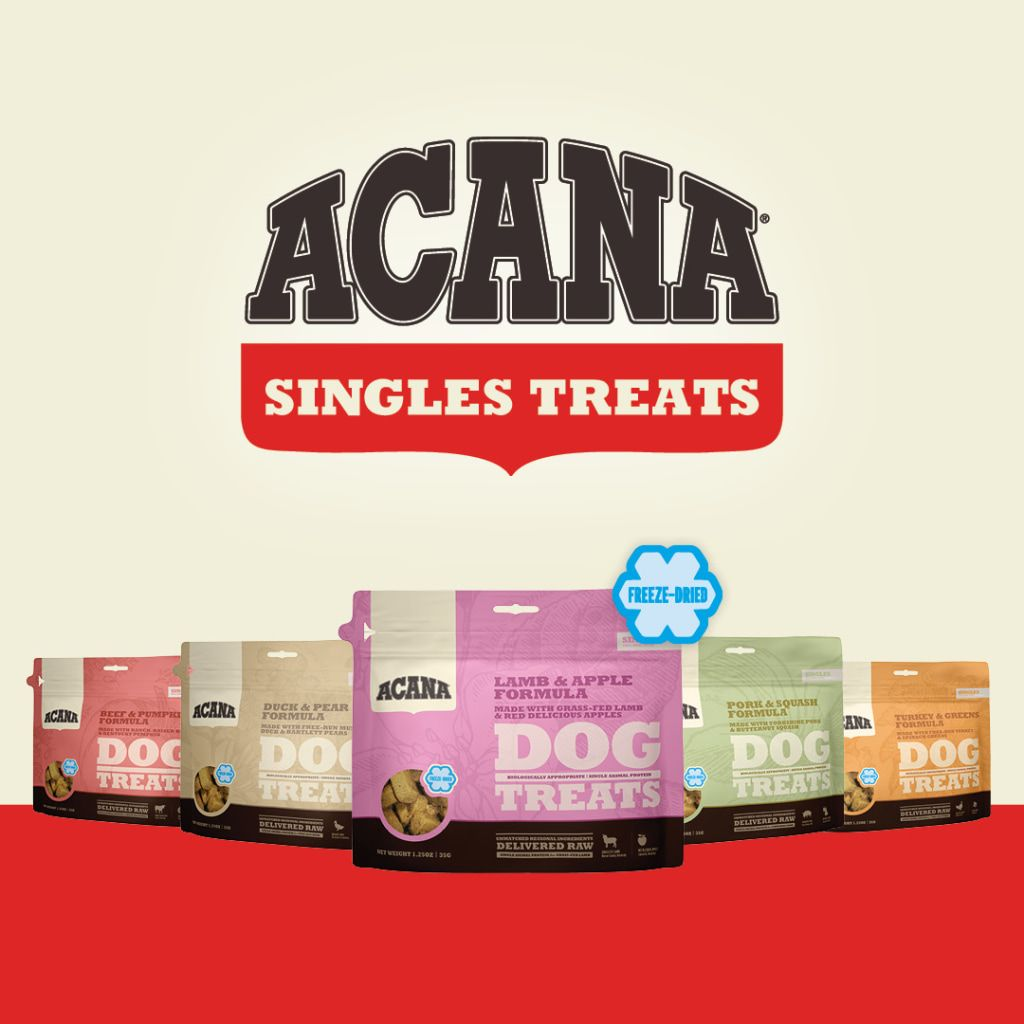 Acana Singles Treats Are A Powerhouse Of Nutrients Rewarding Your Pet With A Burst Of Flavor And A Boost Of Protein Made With 100 In 2020 Treats Dog Treats Your Pet