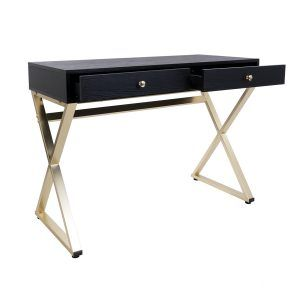 Simone Black And Gold Vanity Table
