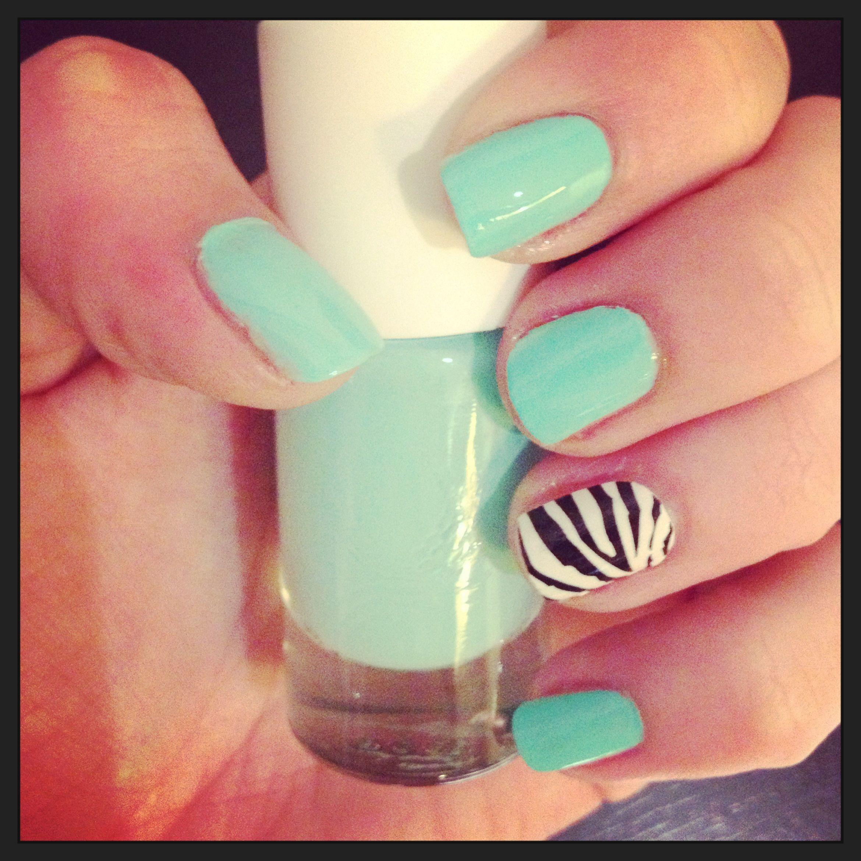 Mint effect | Nails are a girl\'s best friend | Pinterest