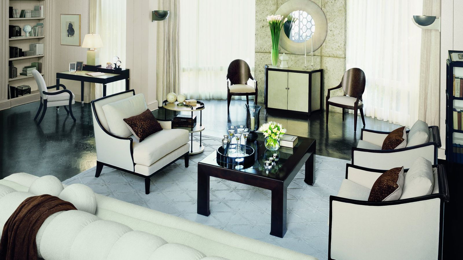Bright And Elegant Art Deco Living Room